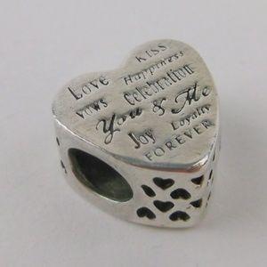 Pandora Sterling Heart Charm Bead